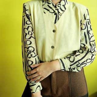 Vintage mustard yellow blouse