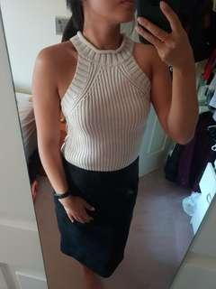 Bardot knit crop top