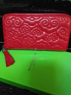 Shanghai Tang Cloud Quilted Wallet Red