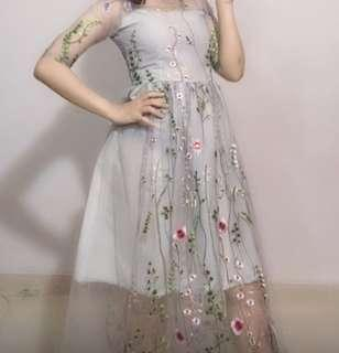 Dress Embroided