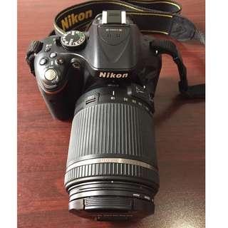 Kamera Nikon D5200 KIT 18-55mm VR II FULL SET + 2 LENSA