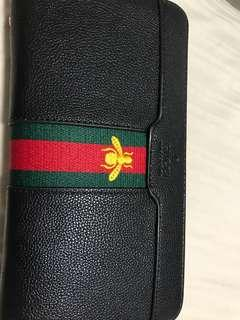 Brand new Gucci style large black wallet ladies