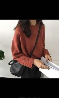 🚚 磚紅色針織毛衣