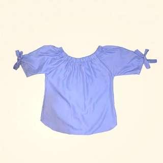 S/M Baby Blue Off Shoulder