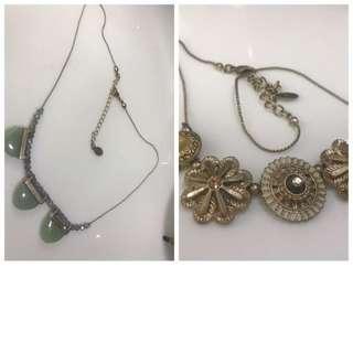 Accessorize necklace x2
