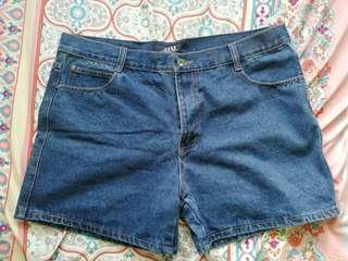 Plus Size Maong Shorts
