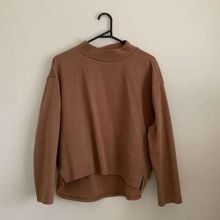 Brown Mock Neck Sweater