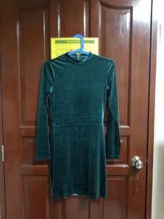 Divided Velvet Dress