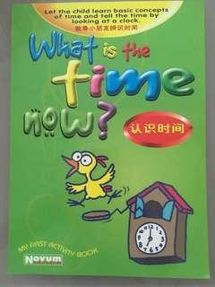 My first activity book-What is the time now?