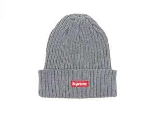 🚚 Supreme Ribbed Beanie 16AW BOX 小標 毛帽 灰 超新二手