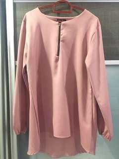 Modest blouse in Pink