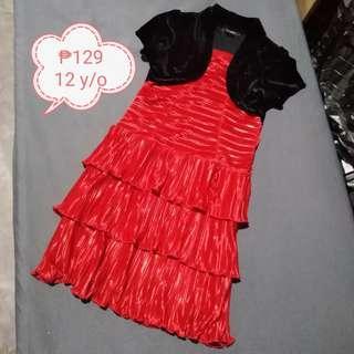 🥀 Red Formal Dress for Girl