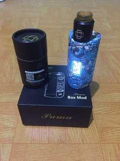 MOD VAPE PUMA 200w + DRUGA RDA AUTHENTIC (Bonus liquid Banana mochi)
