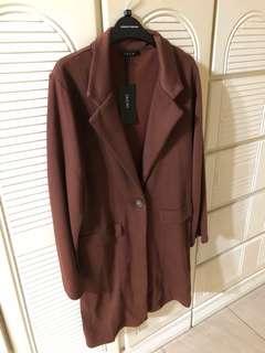 日本買既啡色長外套