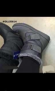 100% New 全新 Ollie 韓國製 毛毛boots 超暖 防水 灰色 Grey S 碼 35 , 36 22.5 cm 23cm