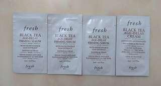 FRESH Black Tea Age-Delay Firming Serum & Cream 紅茶抗皺緊緻精華&面霜  2mlx4