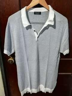 Zara Soft Wool + Cotton Polo Shirt Size XL