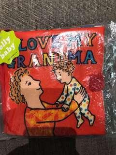 I love my grandma sensory quiet cloth book