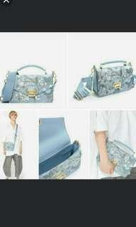 Tas Charles & Keith Blue Bordir Bunga