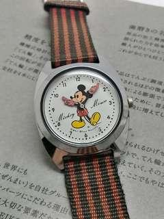 MICKEY MOUSE 7 JEWELS HAND WINDING WATCH 1973's