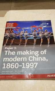 A Level.History. Edexcel. Making of modern China  1860 to 1997.