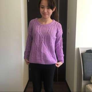 針織衣 毛衣 紫 #衣櫃大掃除