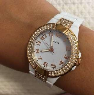GUESS GOLD AND WHITE WATCH
