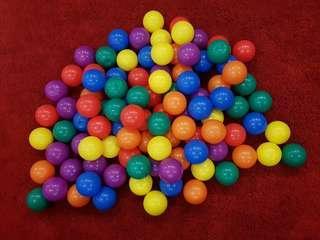 100pcs Colourful Plastic Balls