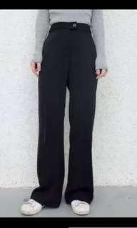 Black High-Waist Flare Pants