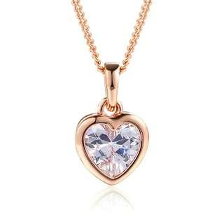 Valentine! Rose Gold Plated Crystal necklace