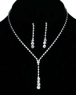 Valentine! Austrian Crystal Jewelry set for bridal or dinner