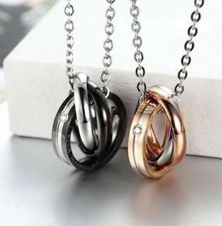 Valentine! Stainless Steel Couple Necklace (sold pair or separately)