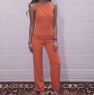 Kookai Orange Jumpsuit Size 36/8 aus