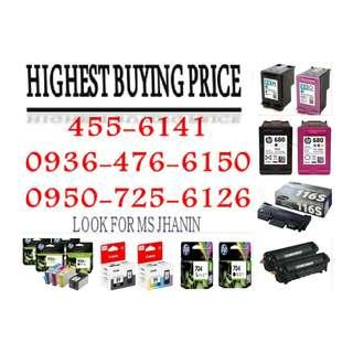 HIGHEST BUYING PRICE BUYER OF EMPTY INK CARTRIDGES AND TONER