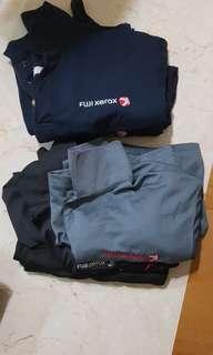 Polo shirt x 5 | light grey, grey black dark blue