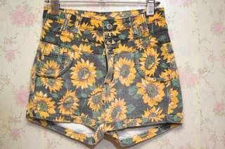 Stonewashed high-waisted shorts