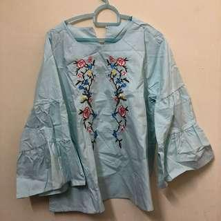 Embroidery Blouse Top