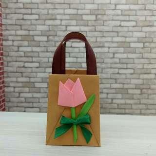 Mini Origami Paper Bag / Kantong Kertas Valentine Size S