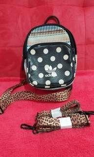 REPRICE || Adidas mini backpack polka