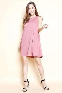 Montifs Liv Trapeze Dress in Rose