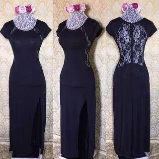 lacey long dress