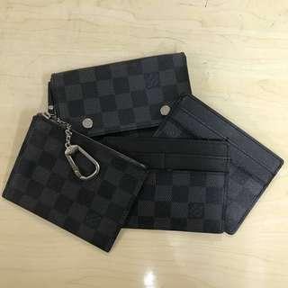 Louis Vuitton 男士 銀包 卡套 格仔 LV