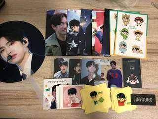 {💚WTS} GOT7 JINYOUNG TAKE A BOW FANSITE FAN SET