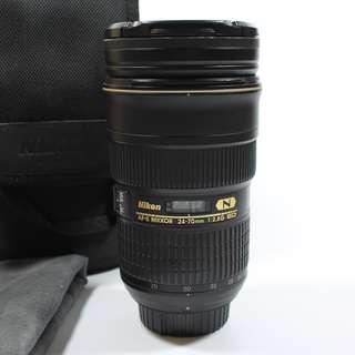 Excellent Condition Nikon 24-70mm F2.8 lens(1200sgd)