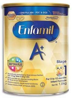 Opened Once Local Stock Enfamil Stage 1 (1.8kg)
