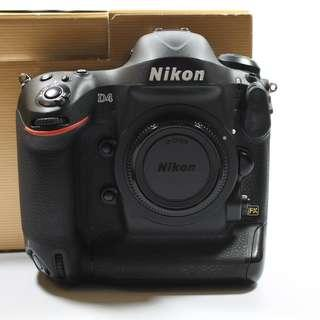 (SC:18275)Nikon D4 Body(3800sgd)