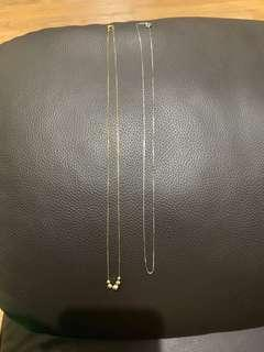 Necklace in 18k yellow gold / Whitegold 14k chain
