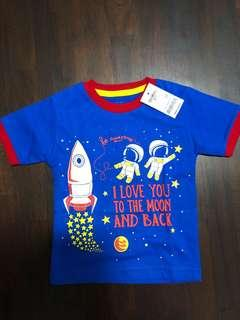 Brand new baby osh kosh love you to the moon and back space tshirt cotton not Carter's cny