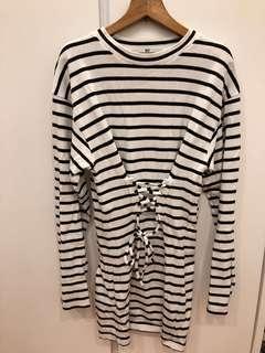 🇯🇵JP SLY 白色間條連身裙 stripe dress