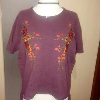 Embroidered Ragged Tee